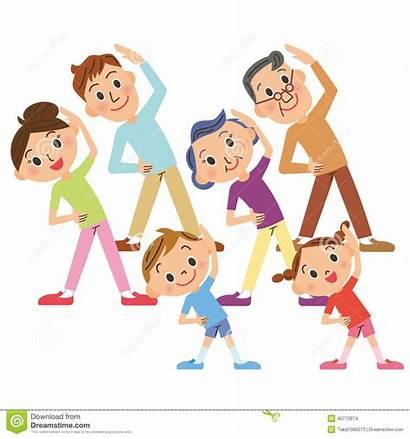 Exercise Clipart Famiglia Exercises Esercizi Meeting Health