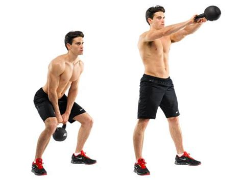 Russian Swing Kettlebell by 10 Solid Dumbbell And Kettlebell Exercises For Ripped Arms