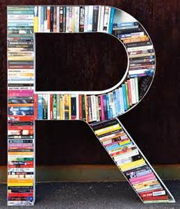 Letter R Shaped Like a Book