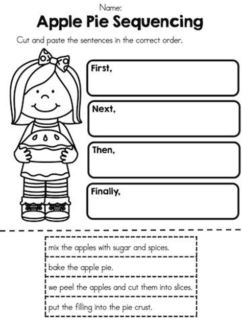 apple time no prep worksheets applesauce recipes cut