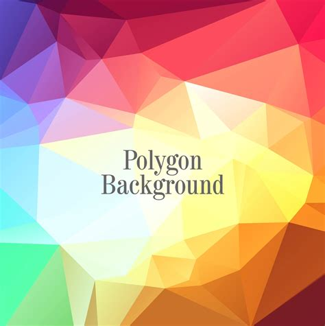 abstract shiny colorful polygon background vector