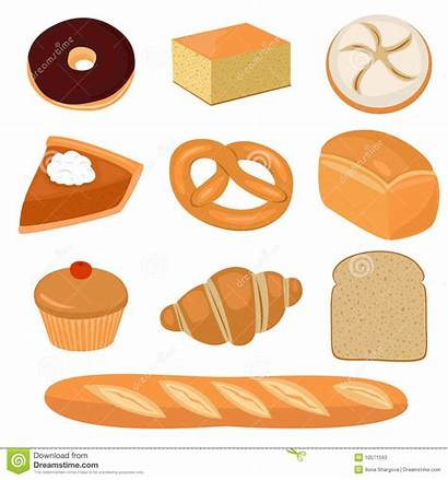 Bread Clip Clipart Pastry Pastries French Vector