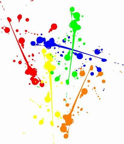 Paint Clip Primary Clipart Splatter Vector Clker
