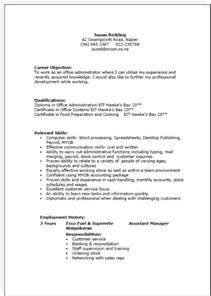 resume template word nz cv formats and exles