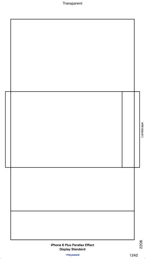 画面サイズ壁紙テンプレート/ Display Size Templates iPhone 6/6 Plus