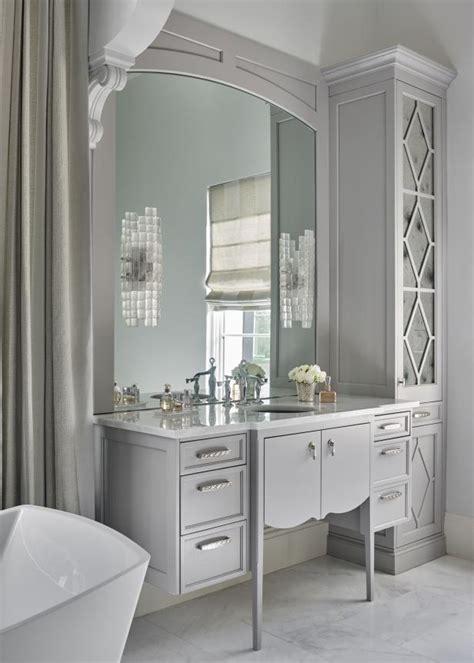 elegant master bathroom  ornate single vanity hgtv