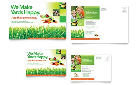 Lawn Maintenance Postcard Template Design Business Cards Jakarta Ireland Card Dimensions Cm Maker App Images Font Yoga Instructor Word Template