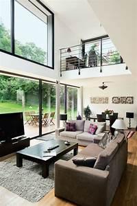 une maison moderne qui invite le jardin a l39interieur With amenagement de jardin contemporain 14 vide sur sejour