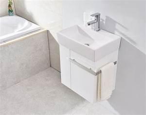Badmöbel Für Gäste Wc : badm bel set compact 500 f r g ste wc wei matt badewelt ~ Michelbontemps.com Haus und Dekorationen