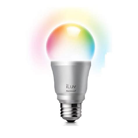 colored light bulbs home depot iluv rainbow7 smartphone controlled bluetooth multi color