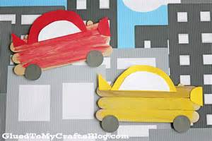 Popsicle Stick Craft for Kid Boys Car
