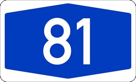 file bundesautobahn 81 number svg wikimedia commons
