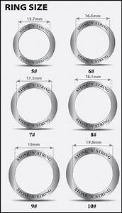 wedding rings ring sizes in inches ring size in mm With sizes of wedding rings