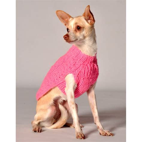 doge sweater chilly pink cable knit sweater at glamourmutt