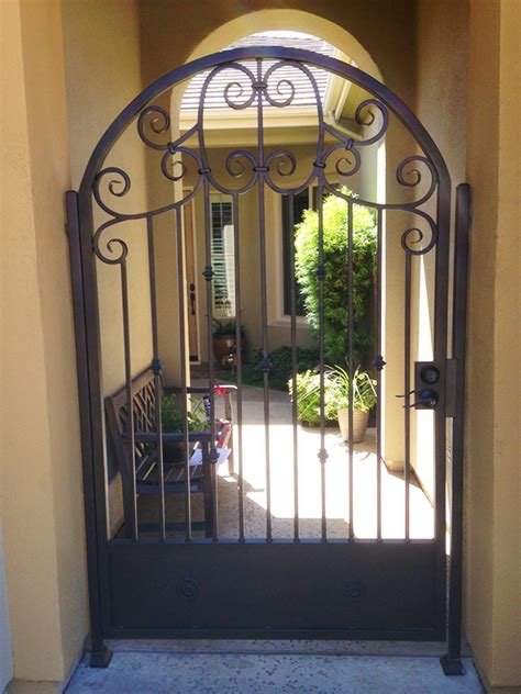 staircase railings designs arched iron entry gate el dorado vintage iron