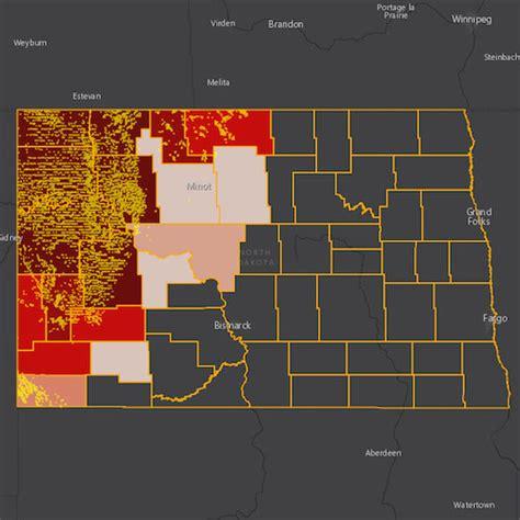 north dakota  oil gas threat map