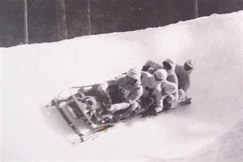 Photo Chamonix, 1924 Bobsleigh L'équipe de France ...