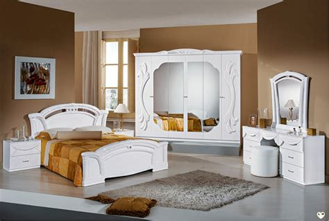 le chambre à coucher ambra laque blanc chambre a coucher l 39 ensemble avec l