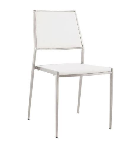 chaises en solde chaise design 39 lobby 39 en matière synthétique blanche et