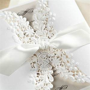 embossed and laser cut gate fold wedding invitation floral With laser cut floral wrap wedding invitations