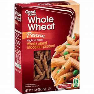 Great Value: Whole Wheat Penne, 13.25 oz - Walmart.com