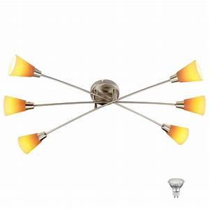 Lampe Mit Mehreren Lampenschirmen : led deckenleuchte mit gelb orangen lampenschirmen lampen m bel innenleuchten deckenleuchten ~ Markanthonyermac.com Haus und Dekorationen