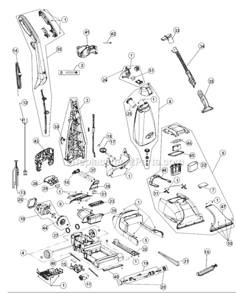 carpet steamer rug mighty pro x3 parts diagram