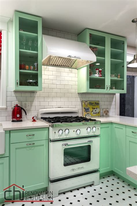 mint green kitchen 25 pastel kitchens that channel the 1950s 4147