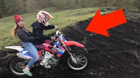 Girl Rides On My Dirt Bike!!