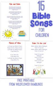 Free Printable Bible Songs for Kids