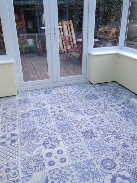 Skyros Delft Blue Wall and Floor Tile   Wall Tiles from