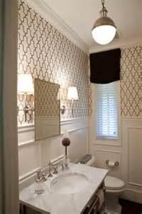 bathroom with wallpaper ideas chic lighting david hicks pendant