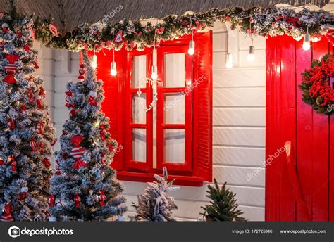 christmas front door   country house background
