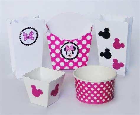 la cuisine de minnie mimi rosa mickey mesa dulces dulceros cartón vasito