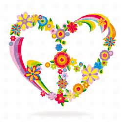 Heart Peace Sign Clip Art Flowers