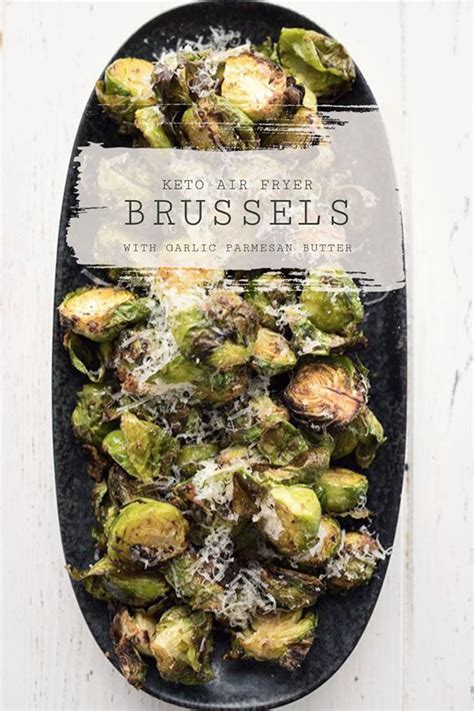 sprouts brussels air fryer parmesan brussel garlic recipe