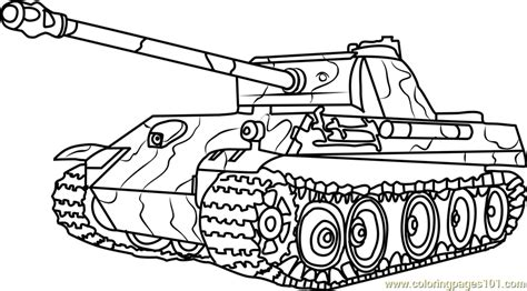 german panther army tank coloring page  tanks