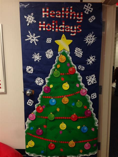 nurses office holiday door decoration bulletin boards