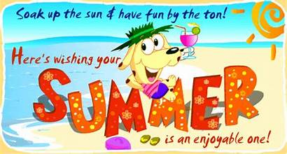 Summer Season Quotes Wishing Happy Enjoyable Animated