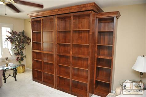 hidden murphy bed bookcase wall unit bookcases ideas bookcase murphy wall bed wilding wallbeds
