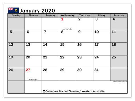 january  calendar western australia australia