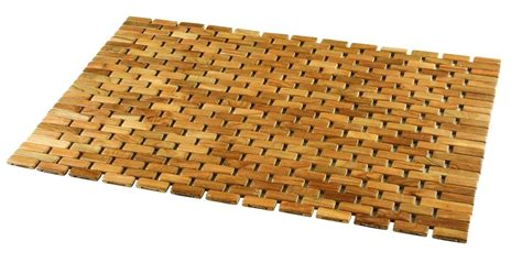 interior decoration of kitchen wood shower mat give a accent to your