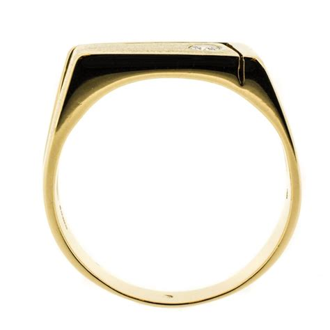 gold  diamond mens ring