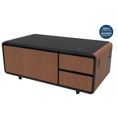 Very excited get a sobro coffee table toady. Sobro Smart Coffee Table with Refrigerated Drawer - Wood - Only at Best Buy | Best Buy Canada ...