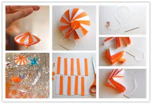 how to diy striped paper ornament www fabartdiy