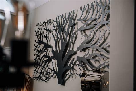 Decor Laser - tree triptych custom laser cut metal wall decor