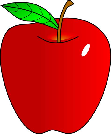 Apples Clipart Shaded Apple Clip At Clker Vector Clip