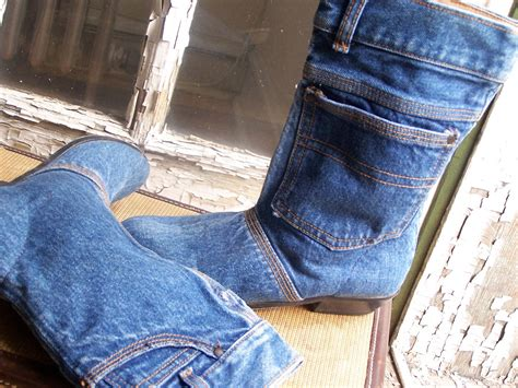 vintage denim bootswomens size hipster shoes