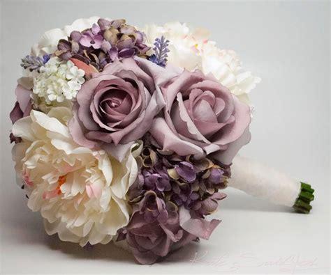 shabby chic wedding bouquets lavender rose hydrangea and peony shabby chic wedding