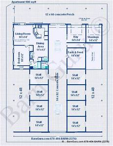 horse barns with living quarters stall horse barn with With 8 stall horse barn plans